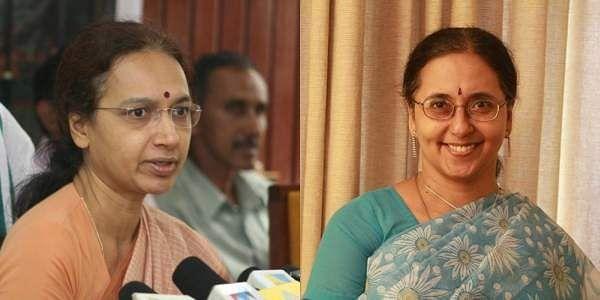 Nalini Netto (L) and Girija Vaidyanathan (Photo | EPS)