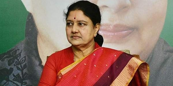 AIADMK General Secretary V K Sasikala at the MLAs and MP meet held at Headquarters on Friday in Chennai.(P Jawahar   EPS)