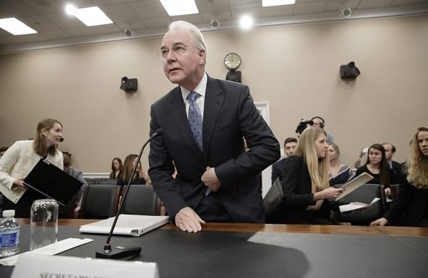 Health and Human Services Secretary Tom Price, a doctor and former congressman, arrives on Capitol Hill in Washington. (Photo | AP)