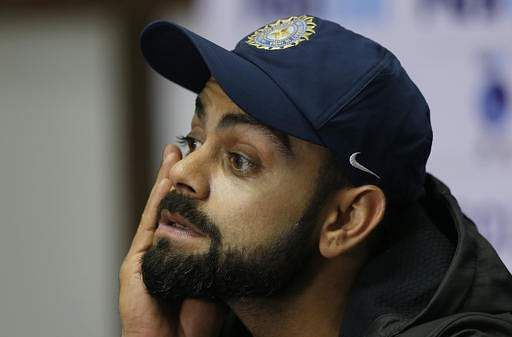 Indian cricket captain Virat Kohli listens to a question from a journalist during a press conference ahead of their test match against Bangladesh at Rajiv Gandhi International cricket stadium in Hyderabad, India, Wednesday, Feb. 8, 2017.(Photo | AP)