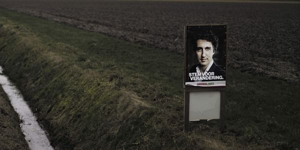 An election poster showing Jesse Klaver, from the GroenLinks party (File Photo | AP)
