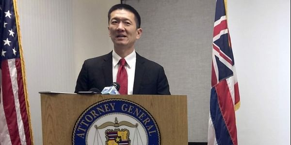 Hawaii Attorney General Doug Chin announcing the state has filed a lawsuit challenging President Donald Trump's travel ban. (File Photo | AP)