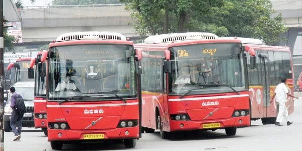 Image result for latest images of BMTC to introduce cashless ticketing system for Vajra buses