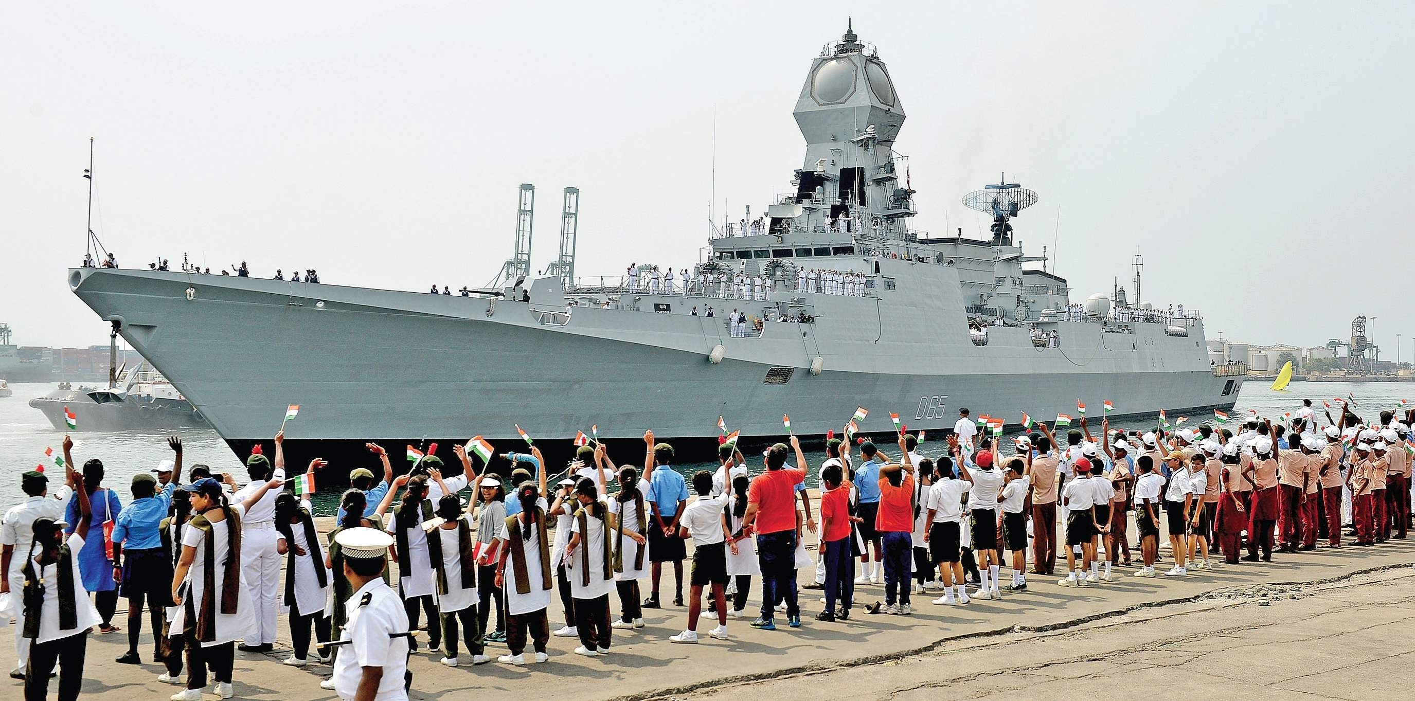 D Exhibition In Chennai : Ins chennai pays first visit to its namesake city the new