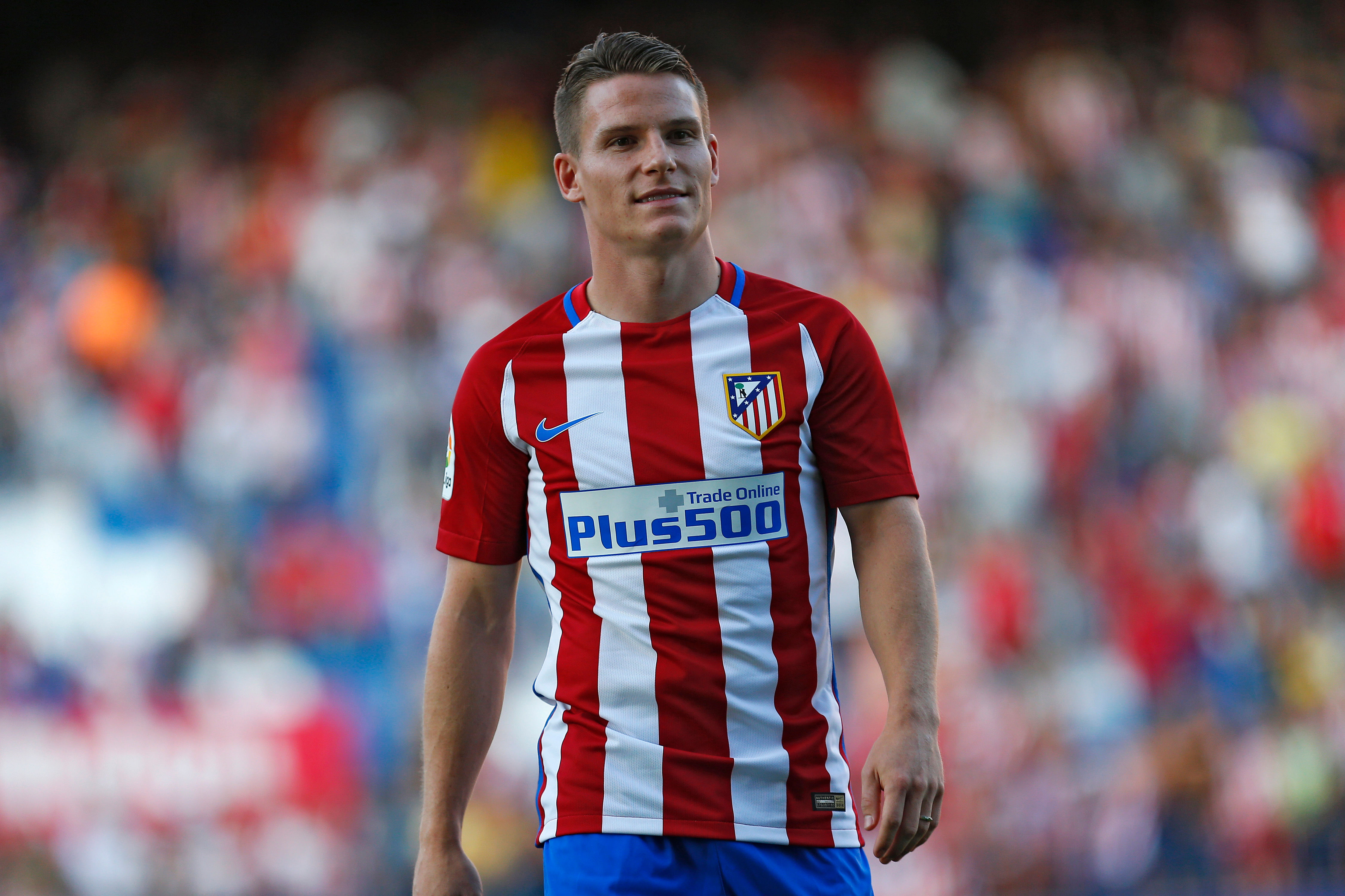 Atletico Madrid s Kevin Gameiro trains on eve of Champions League