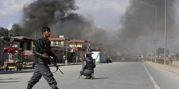 Smoke rises from a district police headquarters after a suicide bombing in Kabul, Afghanistan, Wednesday, March 1, 2017. (File | AP)