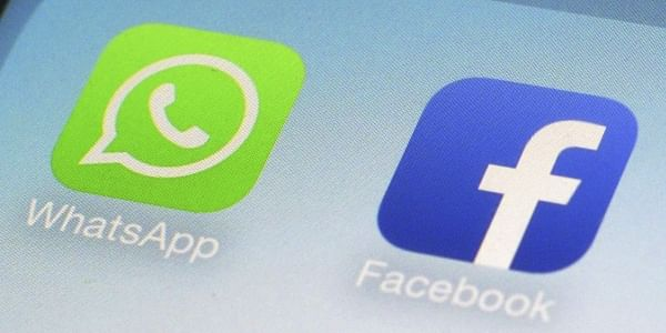 WhatsApp and Facebook app icons on a smartphone (File Photo | AP)
