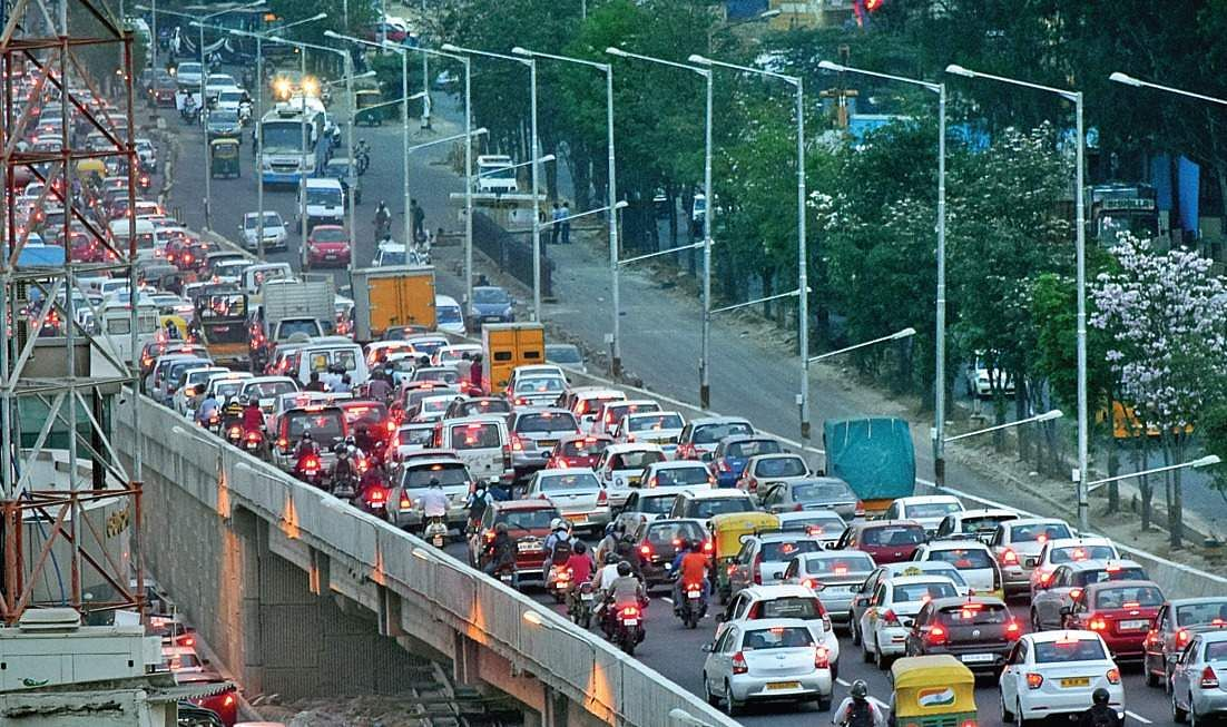 Why is Bangalore stuck in traffic jams?