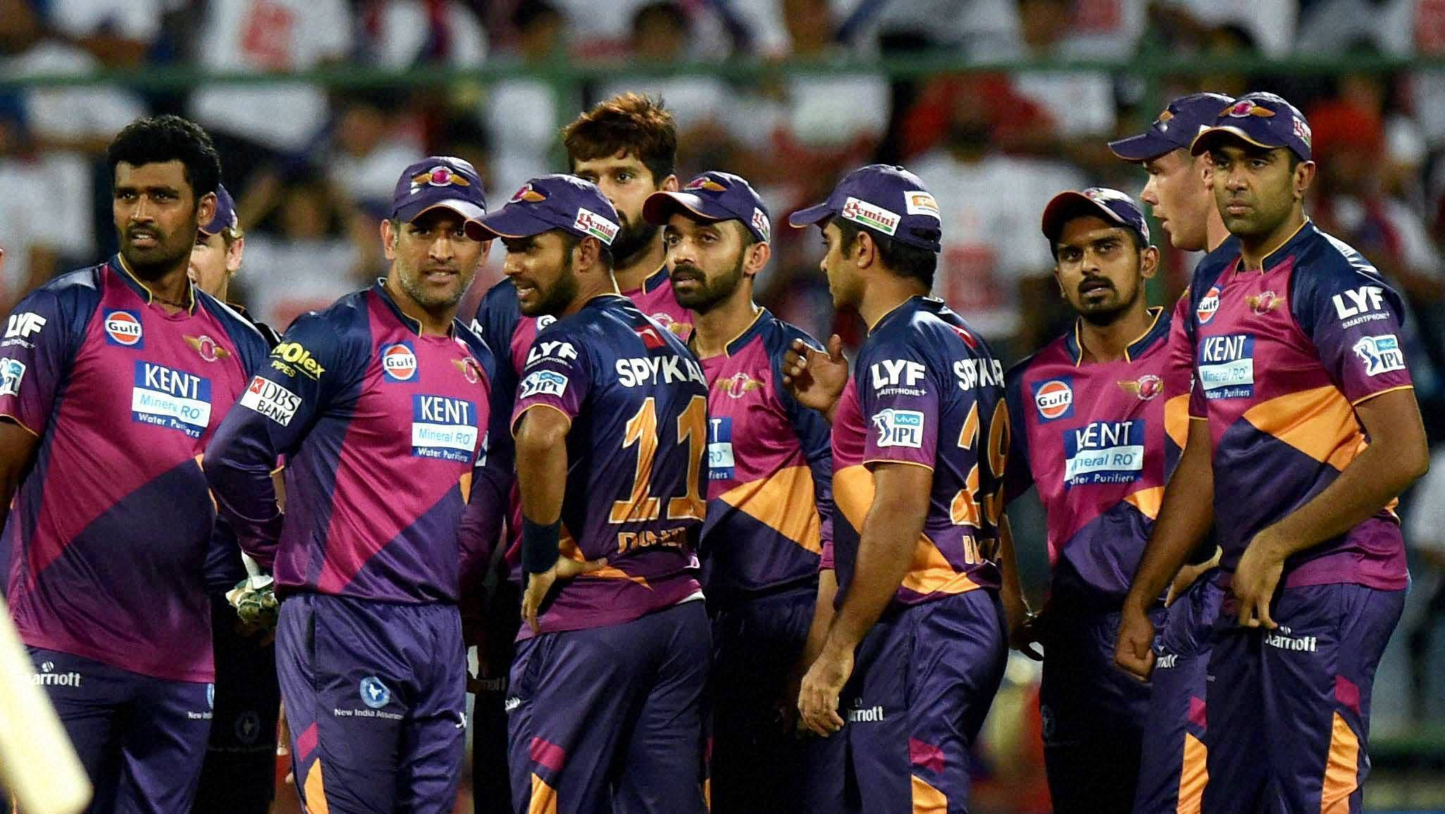 Image result for rising pune supergiant dhoni stokes steve smith