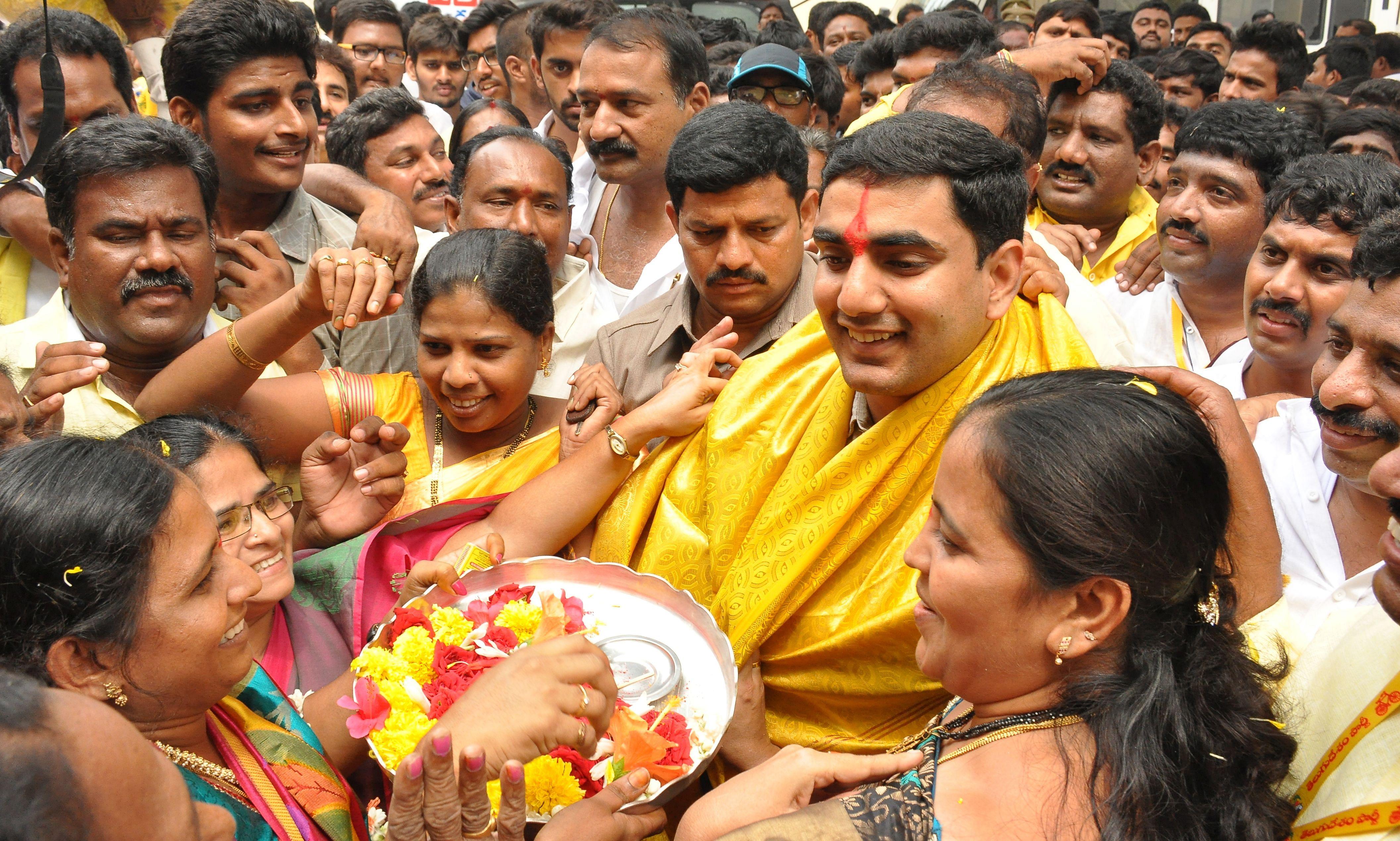 Nara Lokesh inducted into Andhra Pradesh cabinet; takes charge as ...