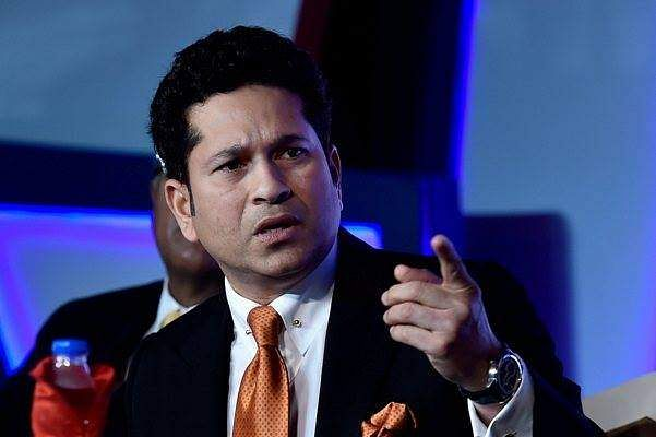 Watch As Sachin Tendulkar Stops And Urges His Fans To Wear Helmet