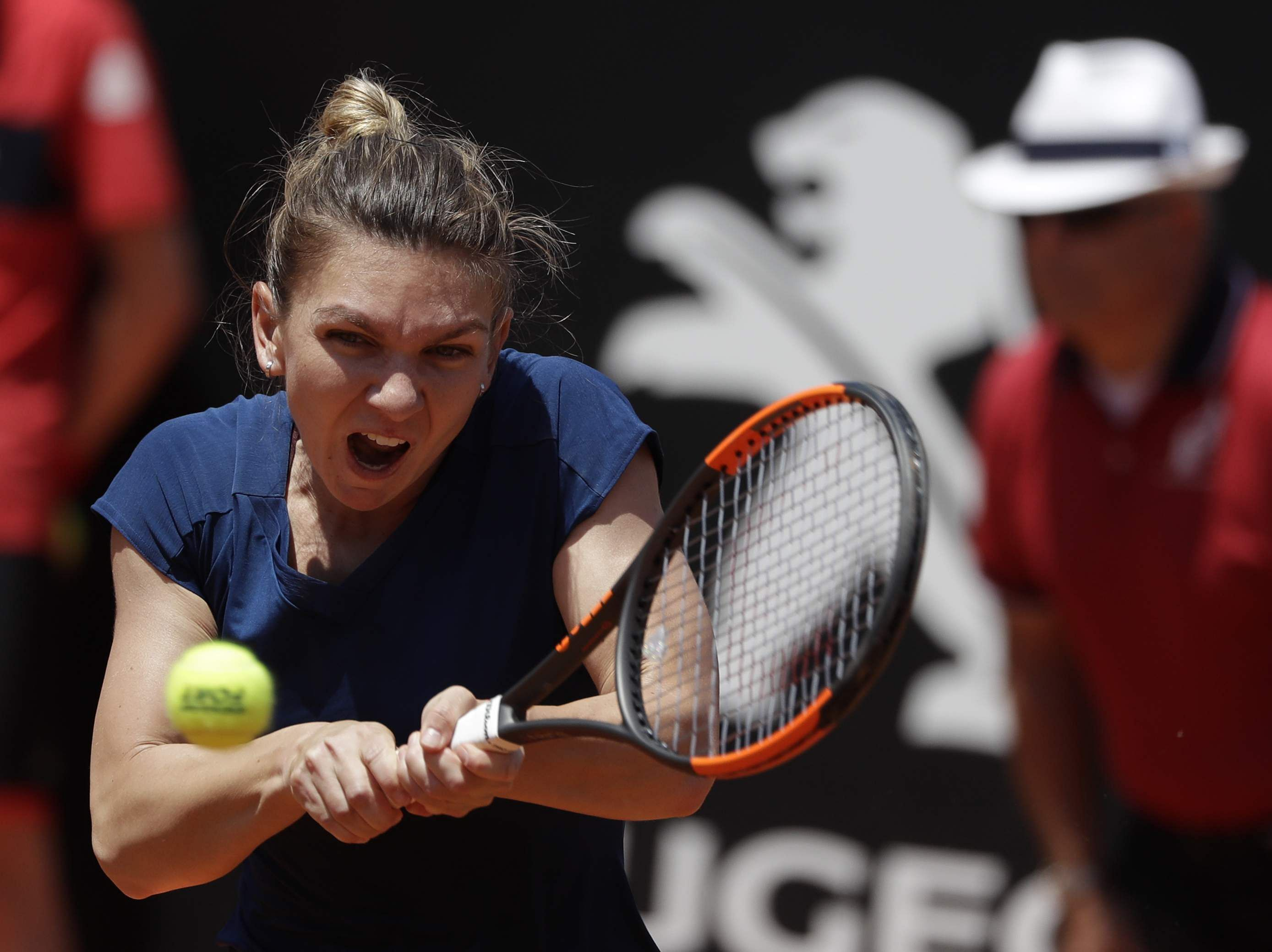 Halep dispatches Bertens in Rome to reach second straight final