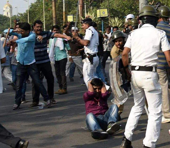 BJP activists clash with Kolkata police, march to Lalbazar turns violent