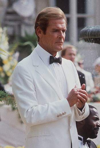 Roger Moore during the shooting of the film series 'James Bond', 'A view to kill', in Chantilly on August 16, 1984.  (File Photo | AFP)