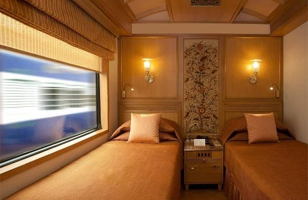 A deluxe room onboard the Maharajas Express. Journeys covering prominent destinations in West and South India are starting on June 24 (Southern Sojourn) and July 1 (Southern Jewels)
