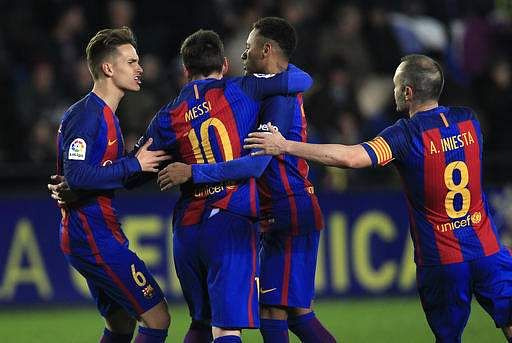 Messi, Neymar win Copa del Rey final for Barcelona
