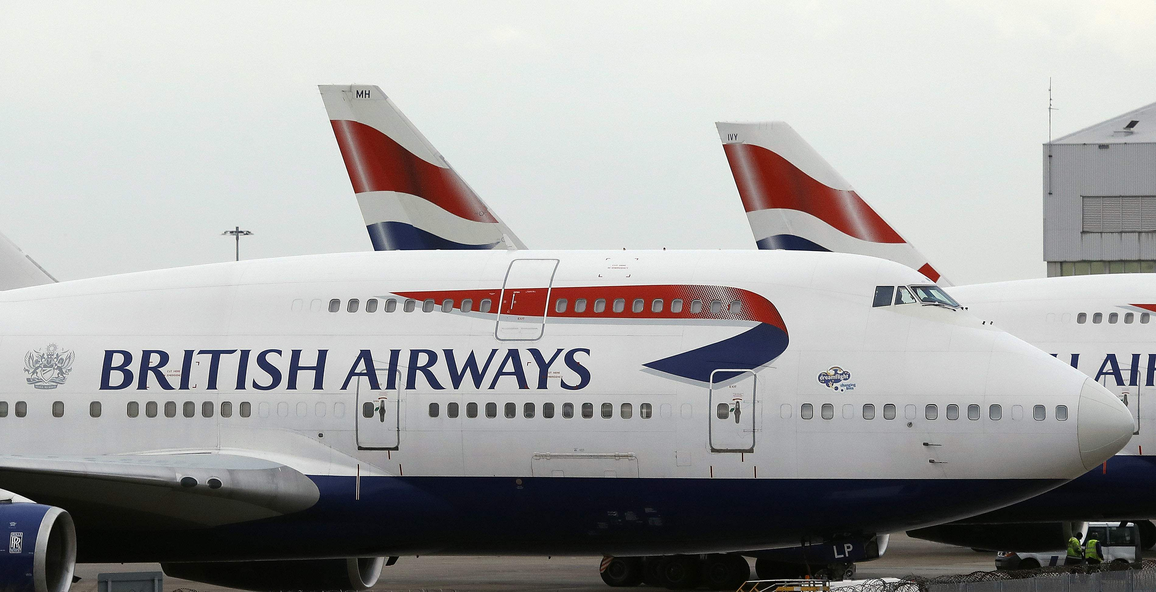 Shares in British Airways' parent company tumble