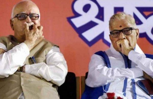 Senior BJP leaders L K Advani and Murli Manohar Joshi. (File photo by PTI)
