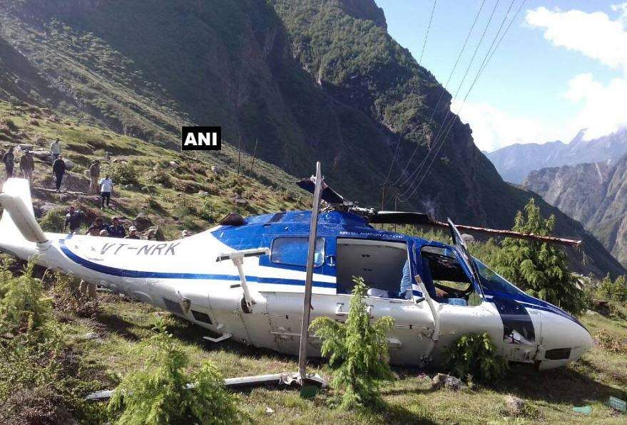 Helicopter carrying pilgrims crashes in Badrinath, engineer killed