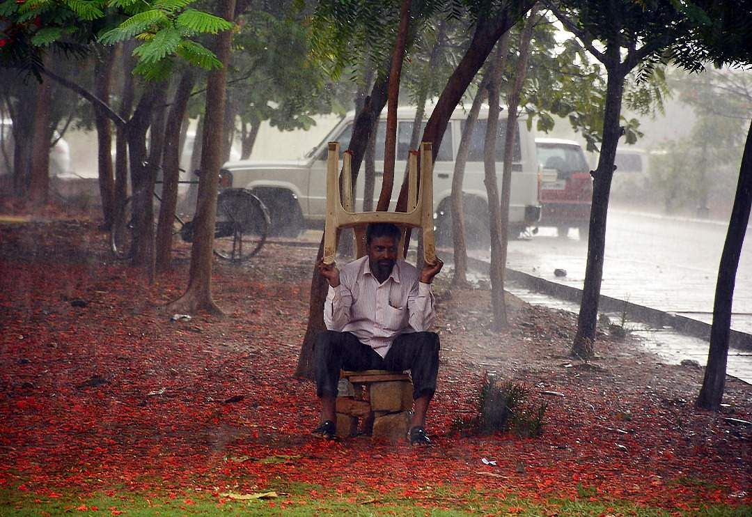 Park but not the Hyatt. Heavy rain at Sangareddy district, Telangana.
