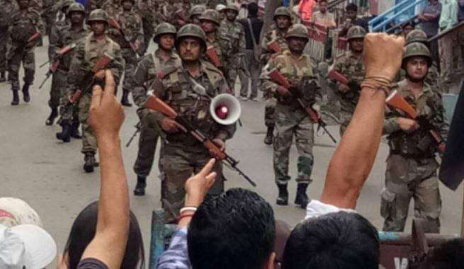 Twelve people injured after police fire tear gas to curb Darjeeling protests