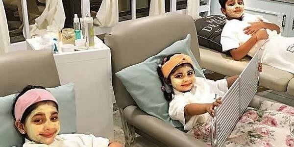 Children get groomed at Mumbai-based salon Dolled & Dapper