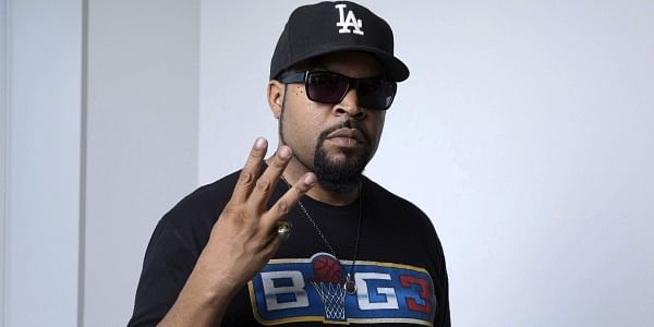 """In this June 20, 2017 photo, rapper and actor Ice Cube poses for a portrait in New York to promote the 25th anniversary re-release of his 1991 solo album, """"Death Certificate.' (Photo by Amy Sussman/Invision/AP)"""