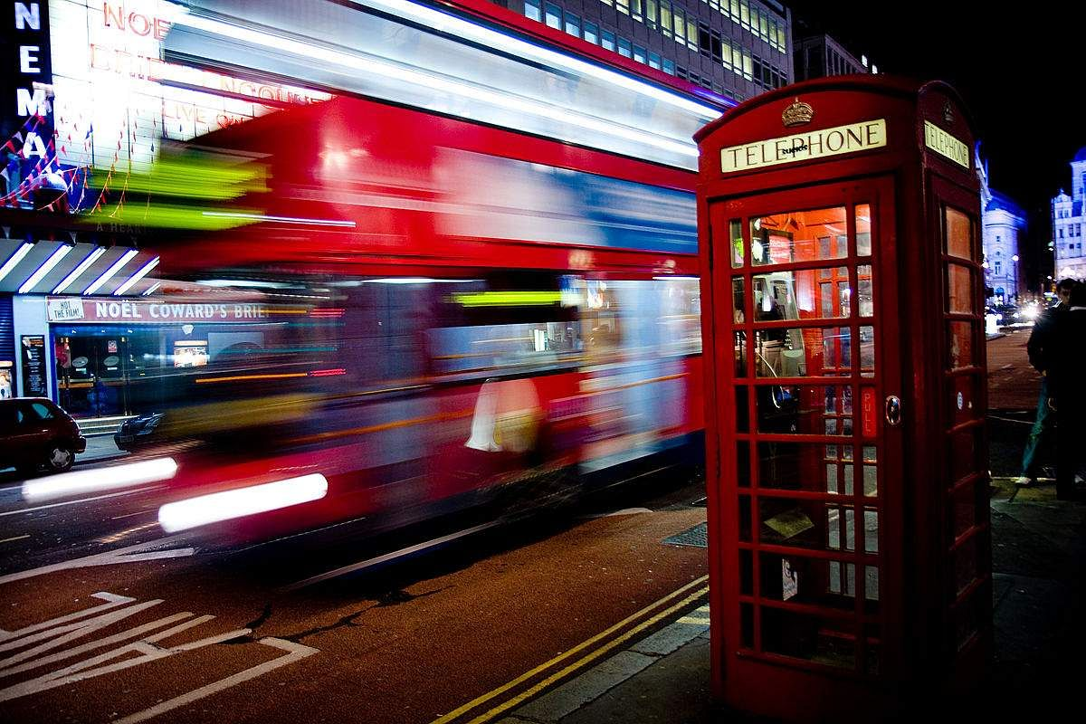London's bright red telephone booths. (Photo | Wikimedia Commons)