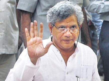 Yechury manhandled by two Hindu Sena activists at press meet