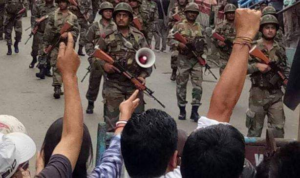 Darjeeling violence: Security personnel attacked