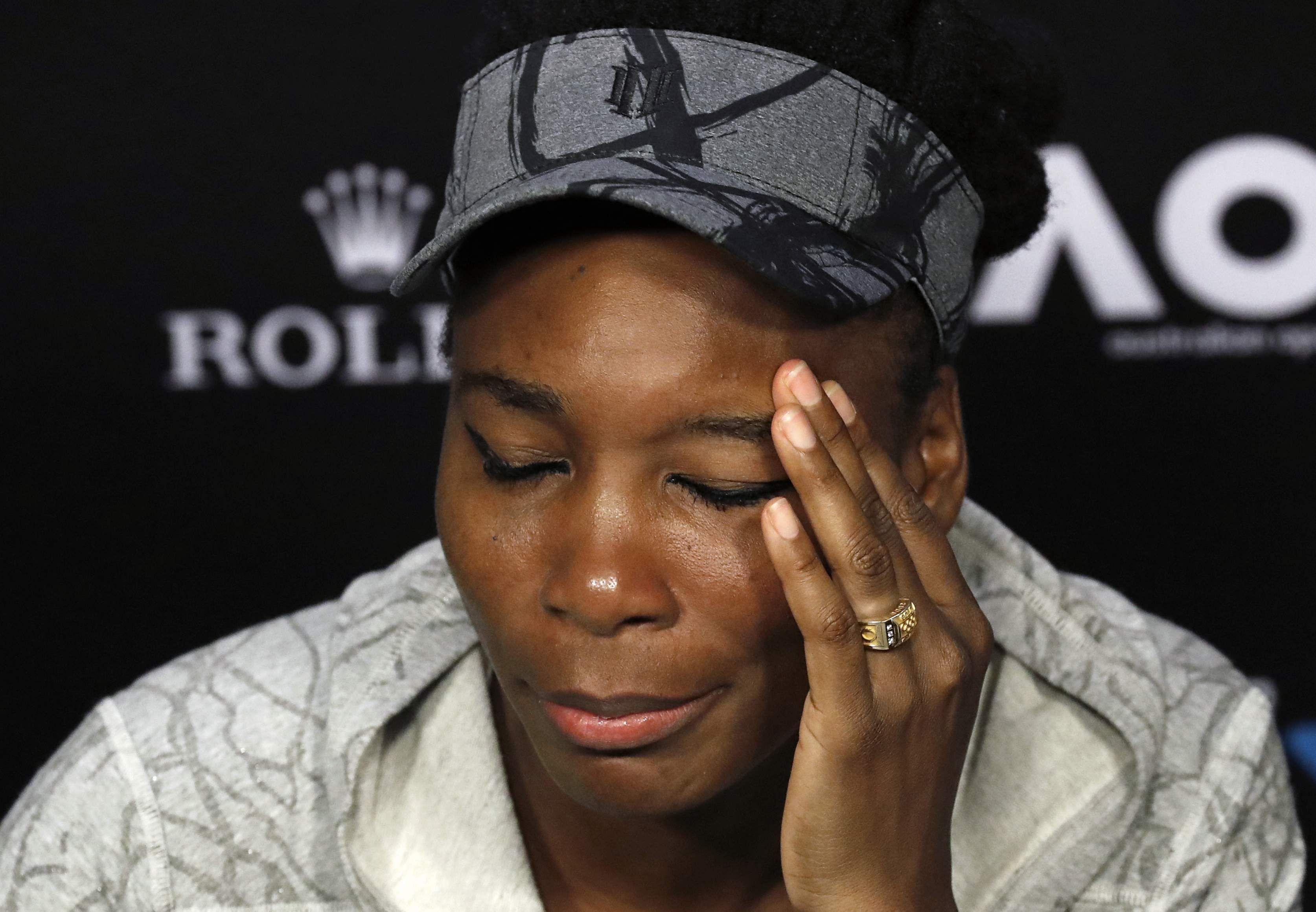 Venus Williams expresses condolences to crash victim's kin