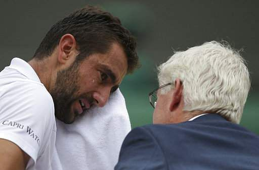 Devastated Cilic reveals blister sparked Wimbledon tears