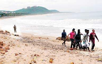 VISAKHAPATNAM A Fun Trip Of Group Six Youngsters To Rushikonda Beach On Sunday Turned Tragic As Two Them Drowned After They Went For Swim
