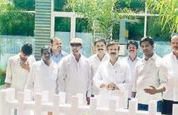 Kapu leaders under preventive custody at Nagarampalem Model Police Station in Guntur on Sunday   Express