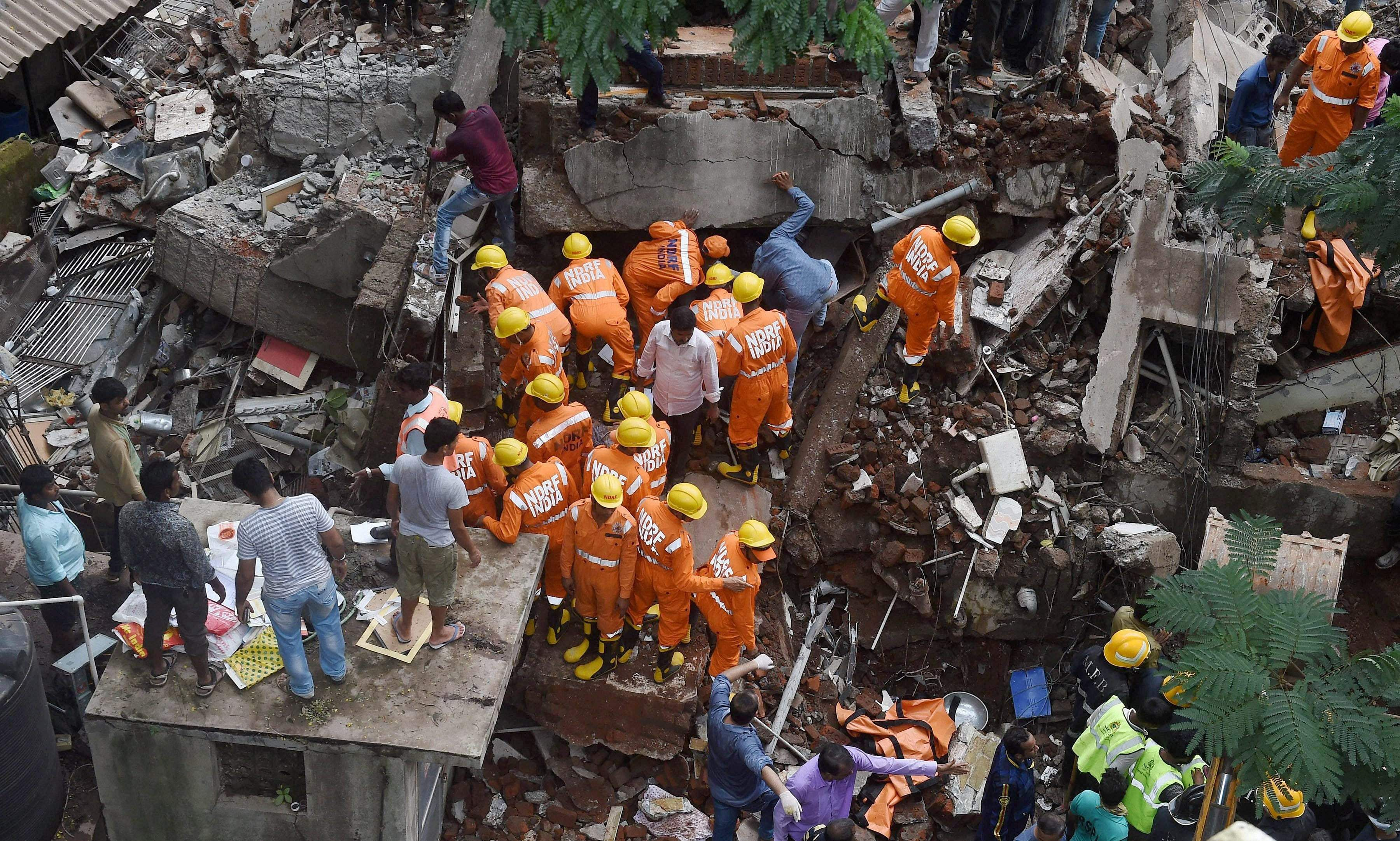 Several dead in building collapse in India's financial capital Mumbai