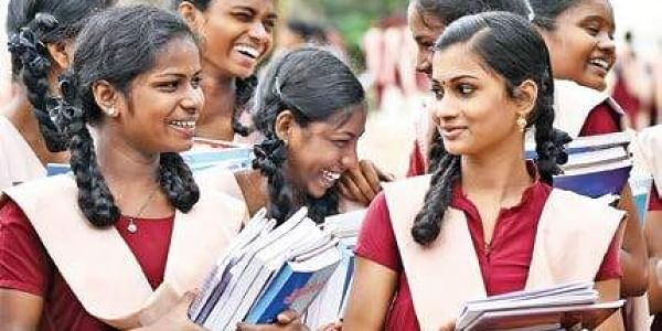 Students of a government school after collecting their free textbooks | For representative purpose | File | Ashwin Prasath