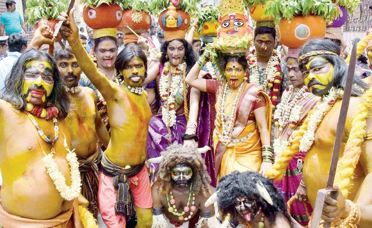 Image result for bonalu durga