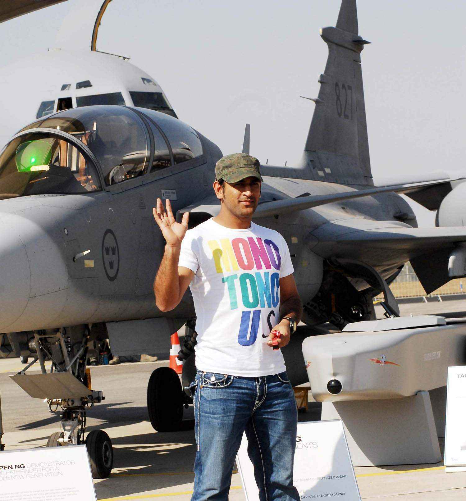 Dhoni is also a fan of flying machines. He likes visiting air fields, air force bases and air shows when he gets the opportunity. | Express Photo Service