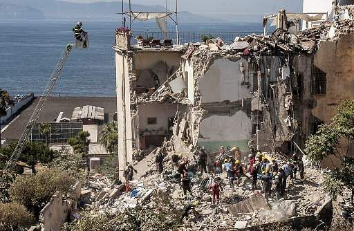 Search for any trapped people underway after building collapse in Italy