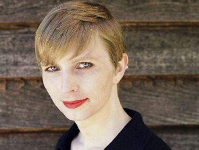 Pvt. Chelsea Manning shows a portrait of her that she posted on her Instagram account. | AP