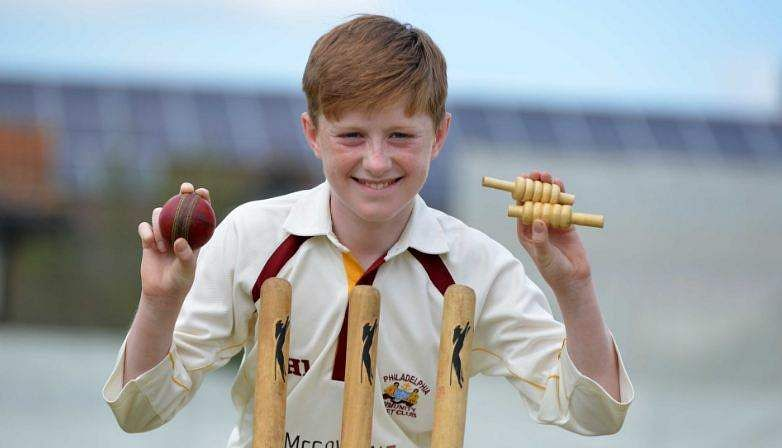 Teenager Luke Robinson bowled the perfect over. | Twitter: @SunderlandEcho