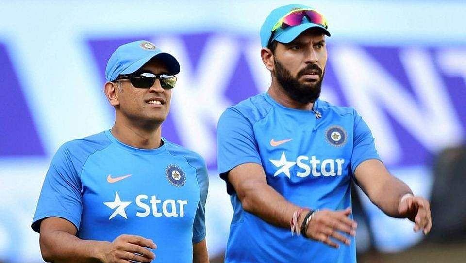 Veterans MS Dhoni (left) and Yuvraj Singh (right) are under the spotlight in selections. | File | PTI
