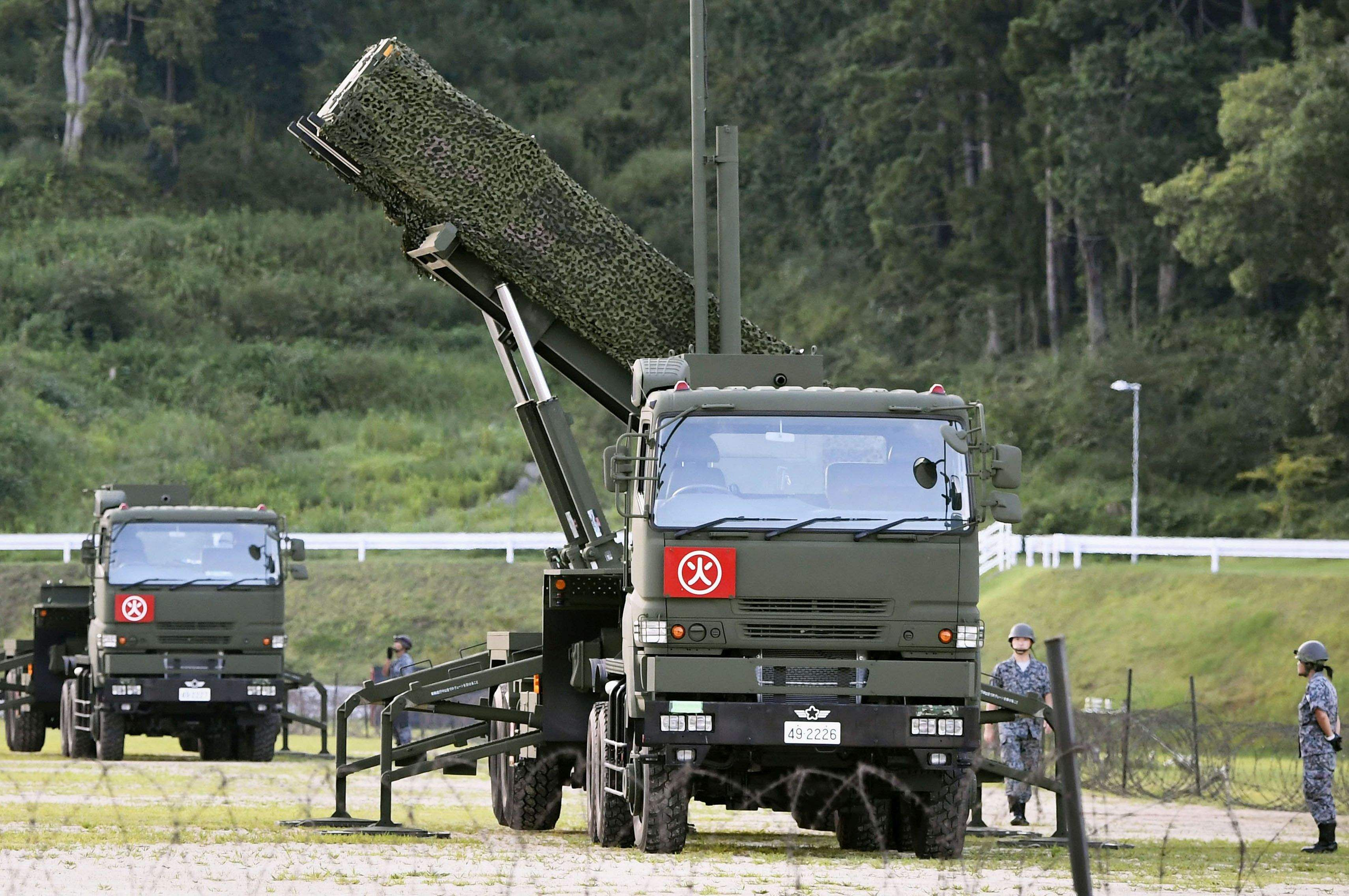 "The threat to Japan from North Korea has reached a ""new stage"" as the country is capable of launching an intercontinental ballistic missiles.A PAC-3 interceptor is deployed in the compound of a garrison of the Japan Ground Self-Defense Force in Konan, Kochi prefecture, Japan. ( Photo 