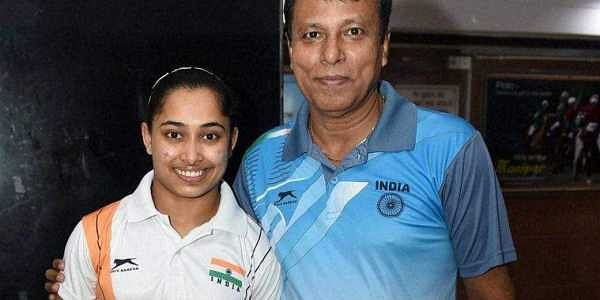 Gymnast Dipa Karmakar with coach  Bisweswar Nandi | File | PTI