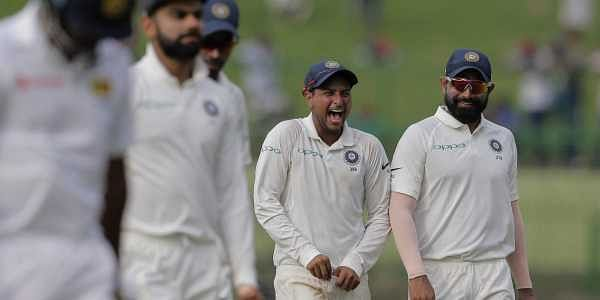 The hosts conceded 352-run first innings lead after all-rounder Hardik Pandya's blistering ton propelled India to 487 at the Pallekele International Stadium.