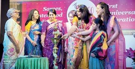 The Core Members Of The Global 100 Saree Pact At A Function Nice Ideas