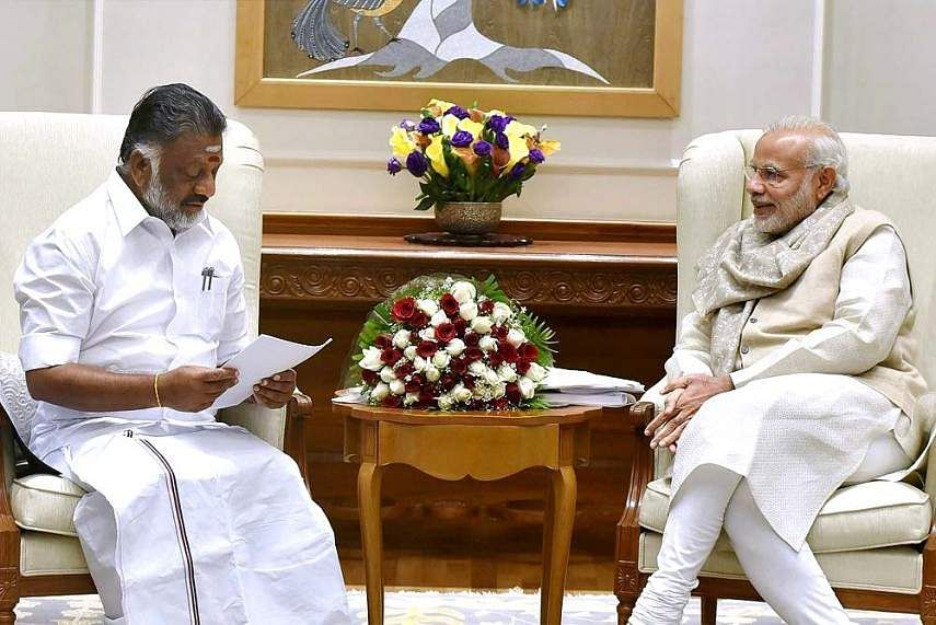 Panneerselvam meets PM Narendra Modi, discusses merger of warring AIADMK factions