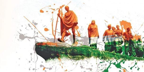 independence, dandi march, gandhi, graphic, freedom struggle