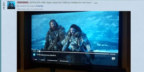 The sixth episode of the season was reportedly available on-demand to subscribers by HBO Spain for one hour before being removed. (Photo | Reddit)