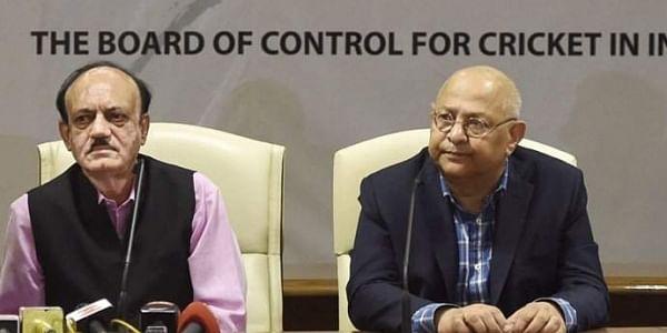 BCCI acting president CK Khanna, left, with acting secretary Amitabh Choudhary (File|PTI)